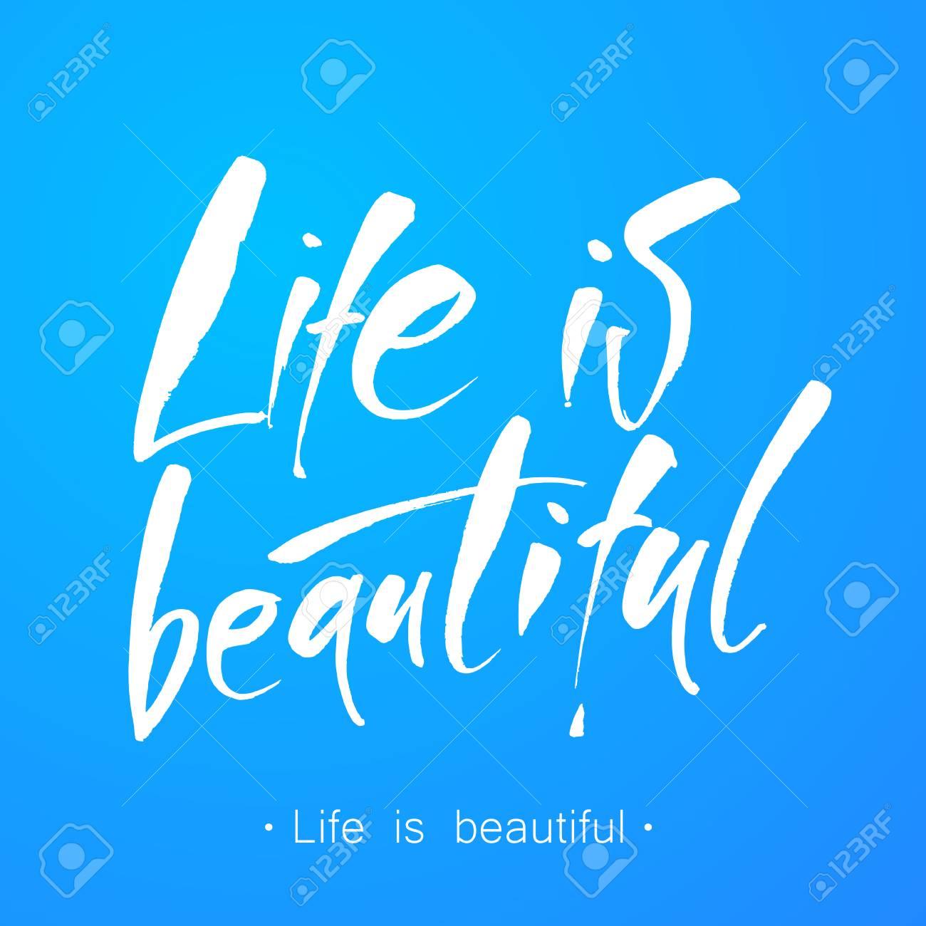 La Vie Est Belle Lettrage à La Main Vie Citation Positive Il Est Une Belle Vie Calligraphie Moderne Vector Illustration
