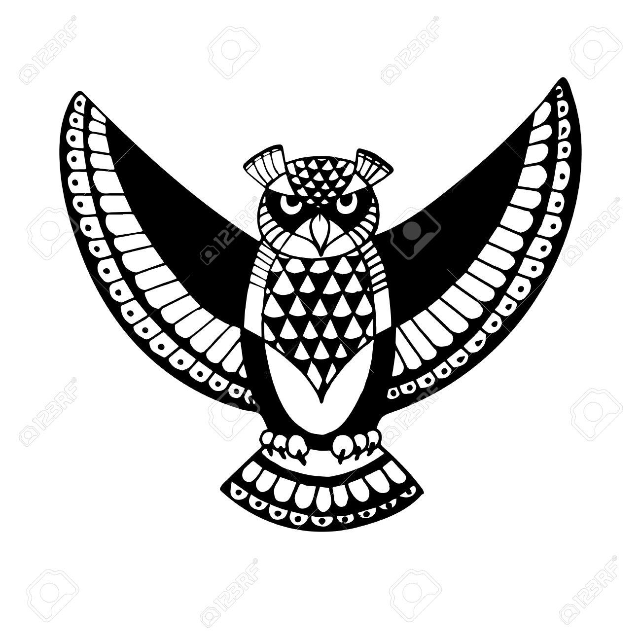 La Chouette Symbole chouette. bird - symbole de la sagesse. conception idée pour l