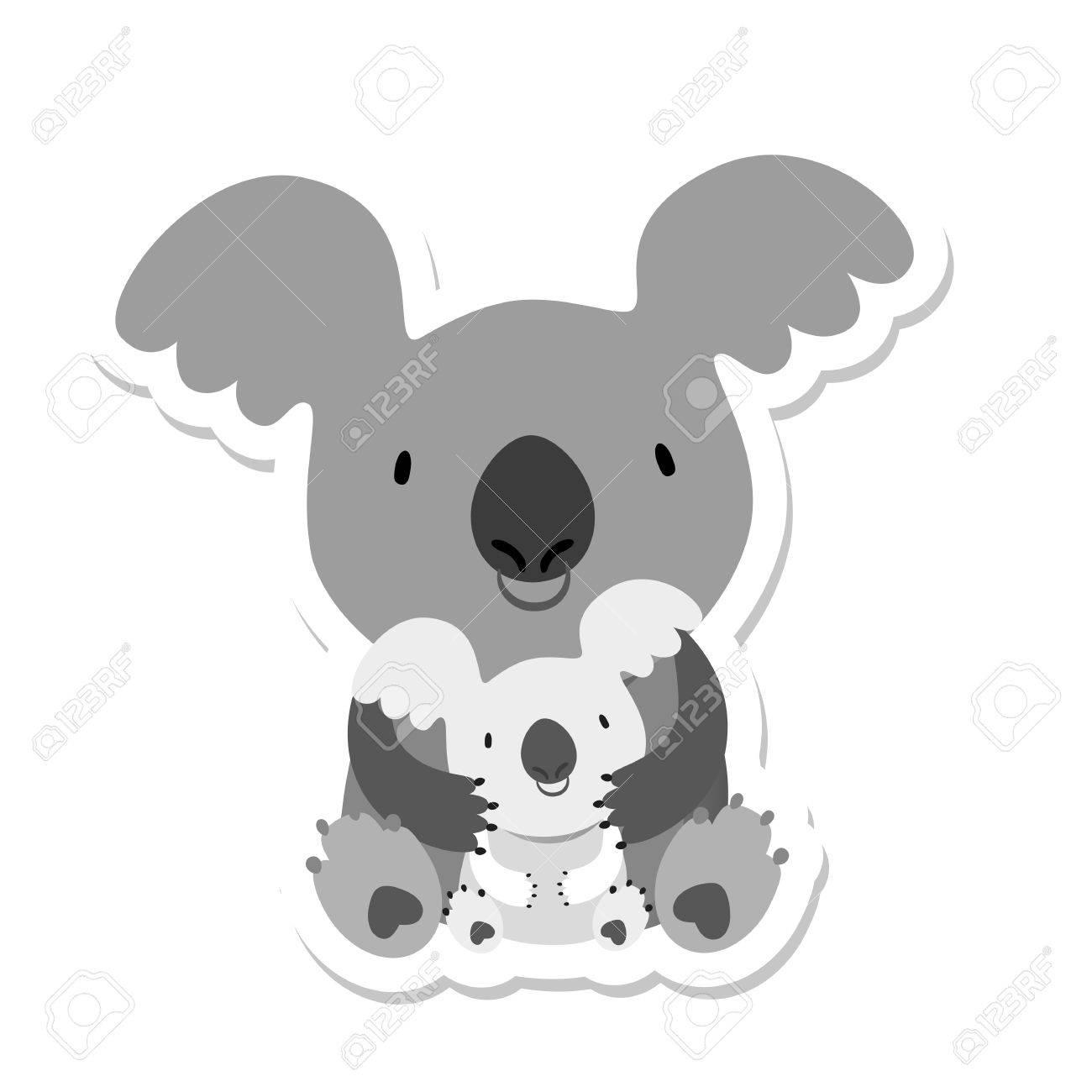 Único Colorear Oso Koala Cresta - Enmarcado Para Colorear ...