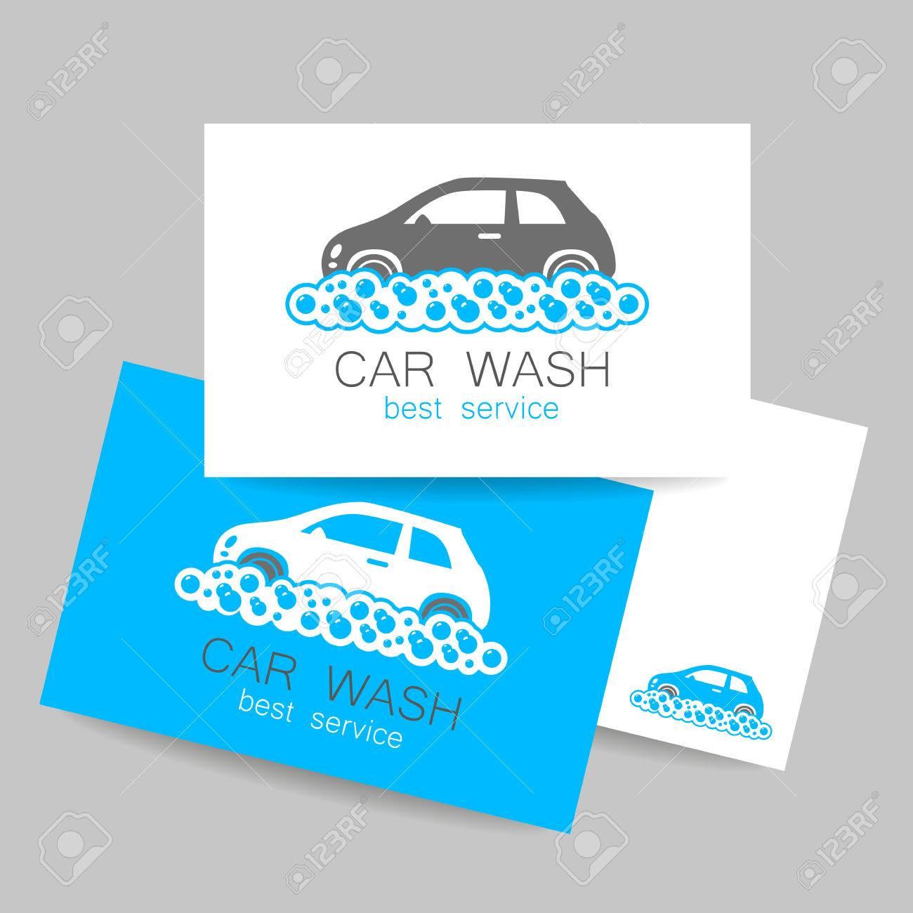 Car Wash Template. Identity Concept Car Wash Service. Business ...
