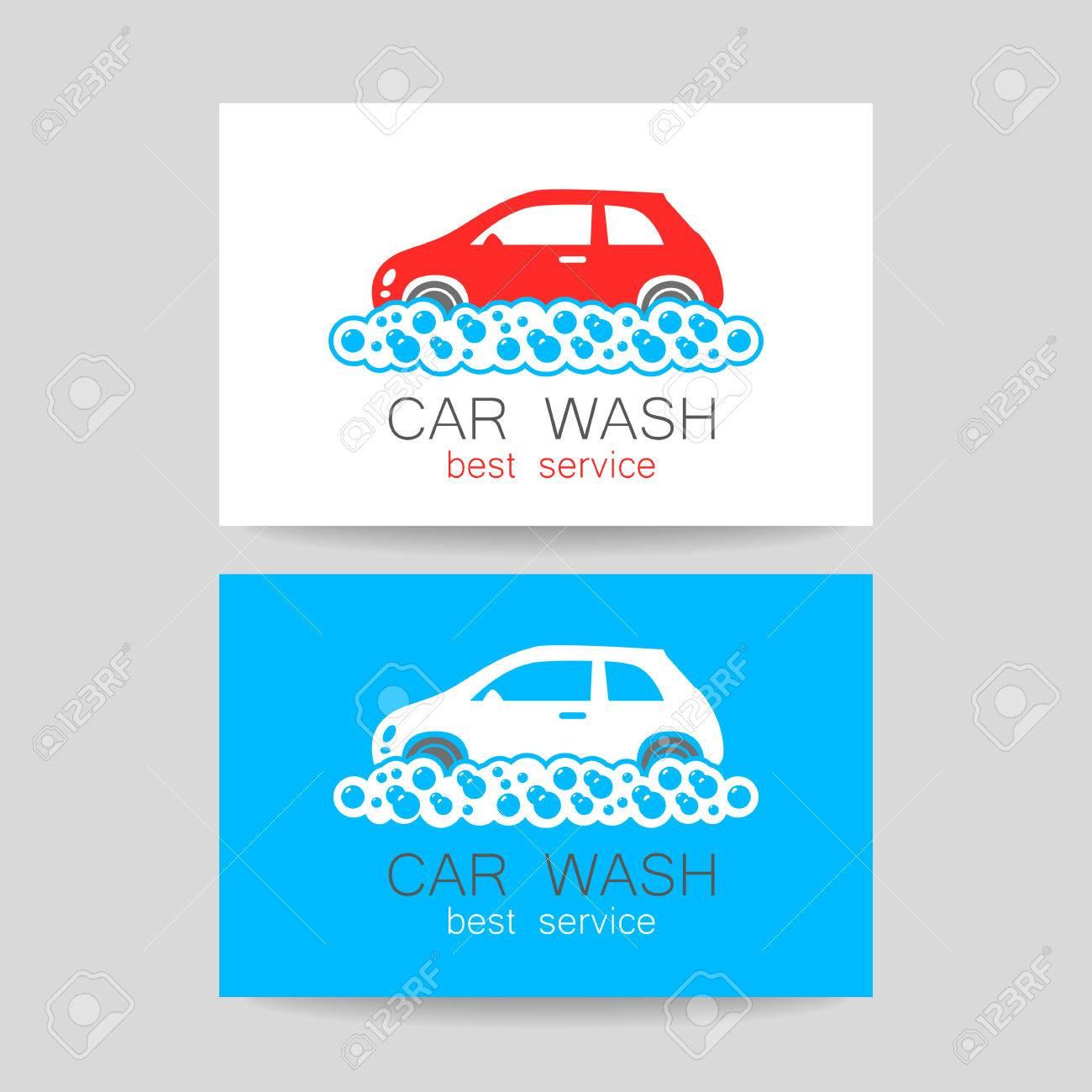 car wash template identity concept car wash service business