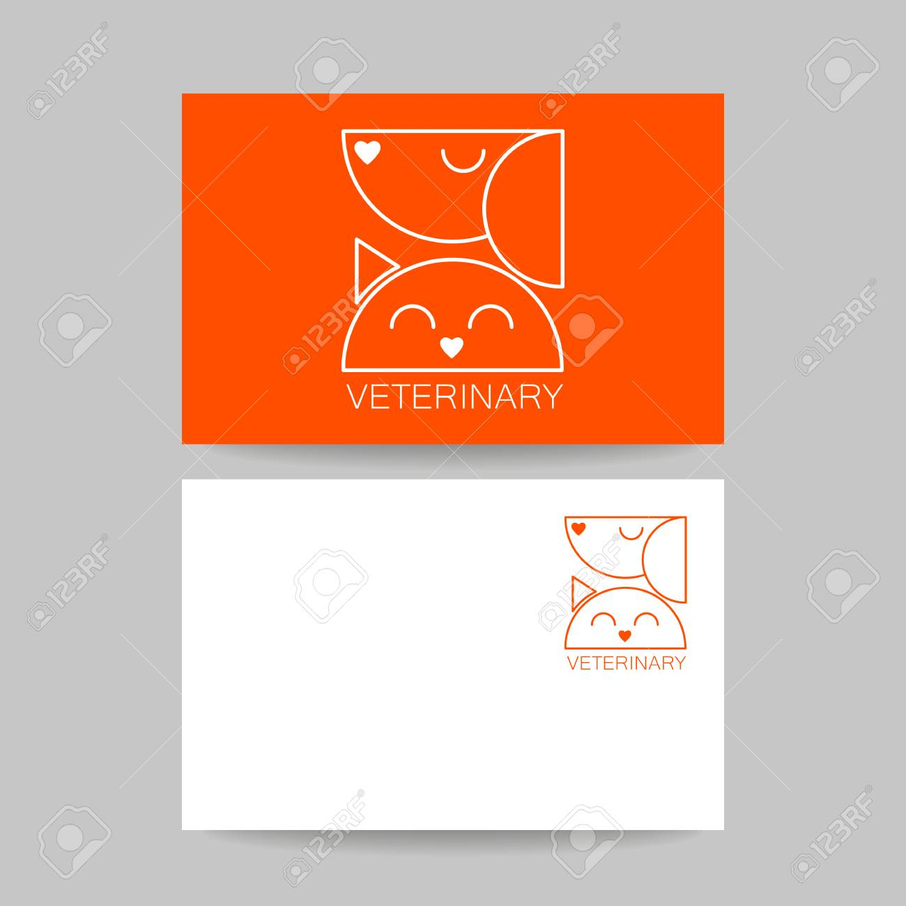 Veterinary Clinic. Business Card Template. Idea For Veterinary ...
