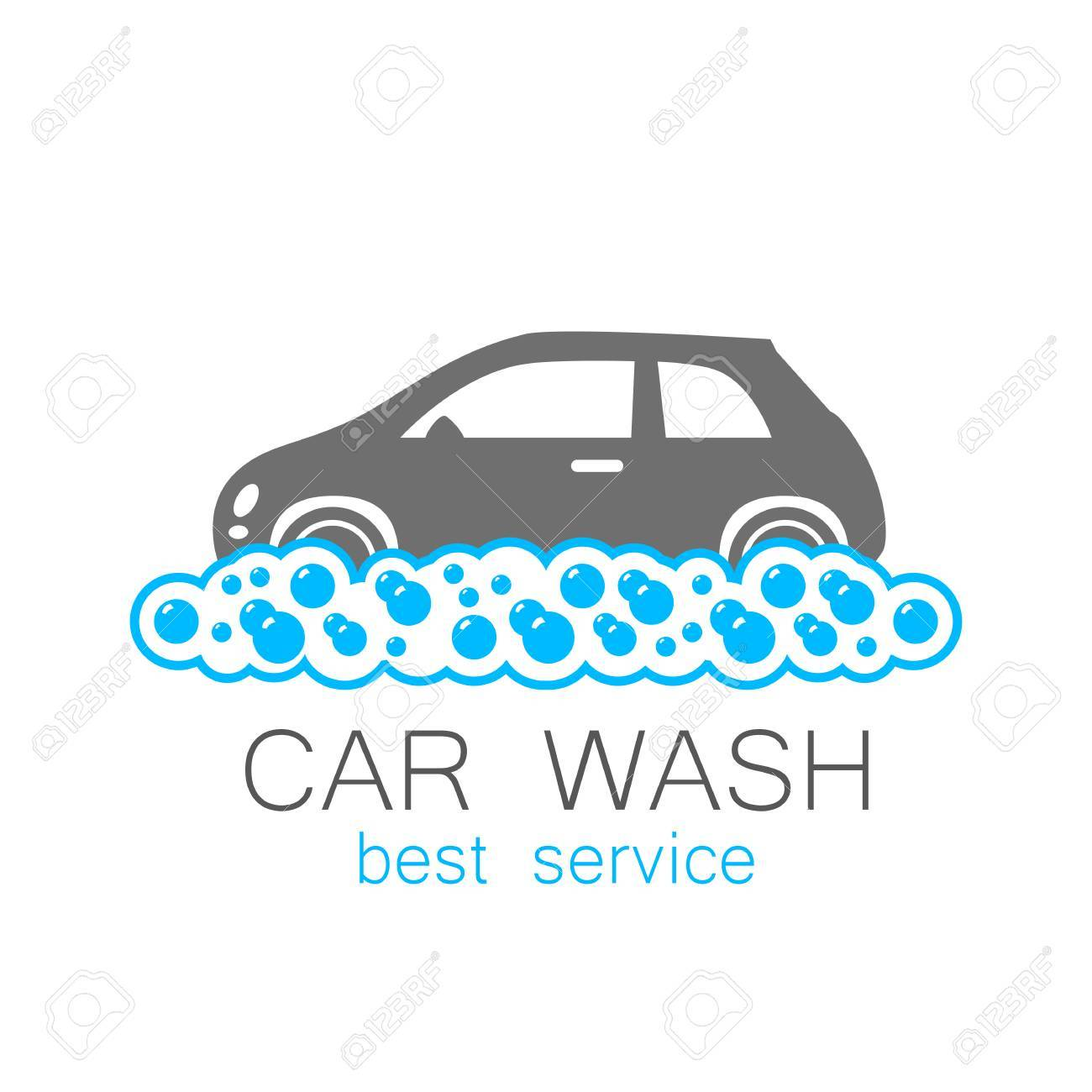 car wash template concept car wash on white background