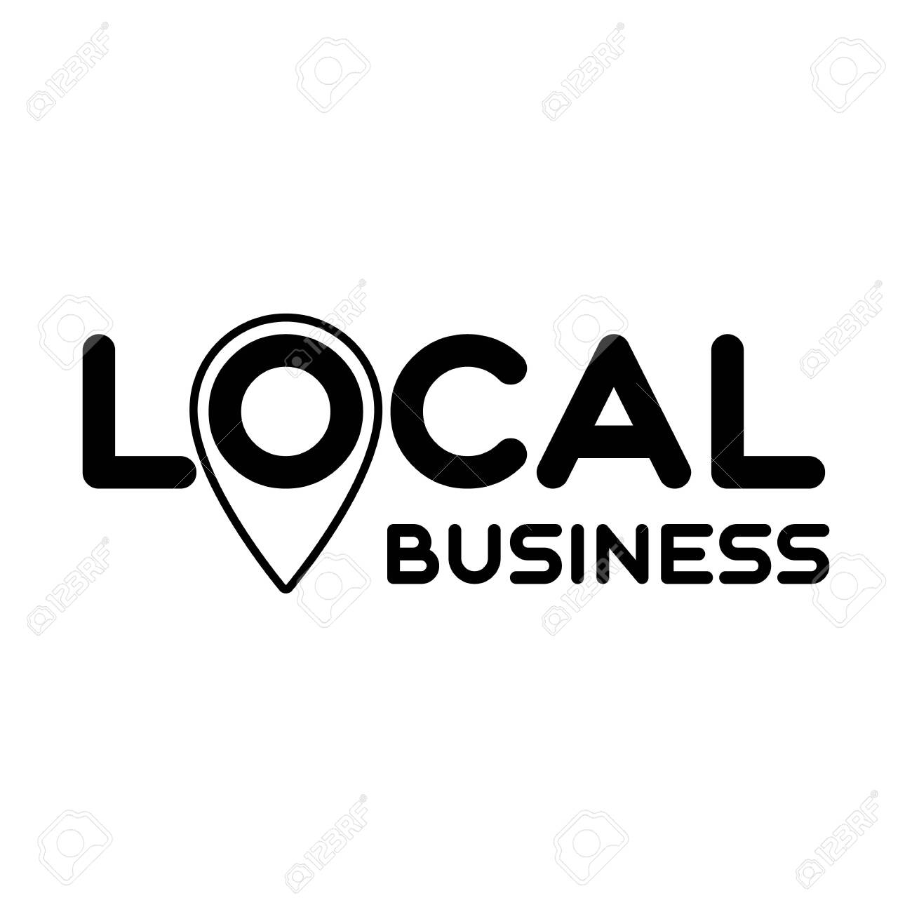 Symbol of local production, business, company. Template for poster, banner, signboard, web, card, sticker. Business locally. - 149663392
