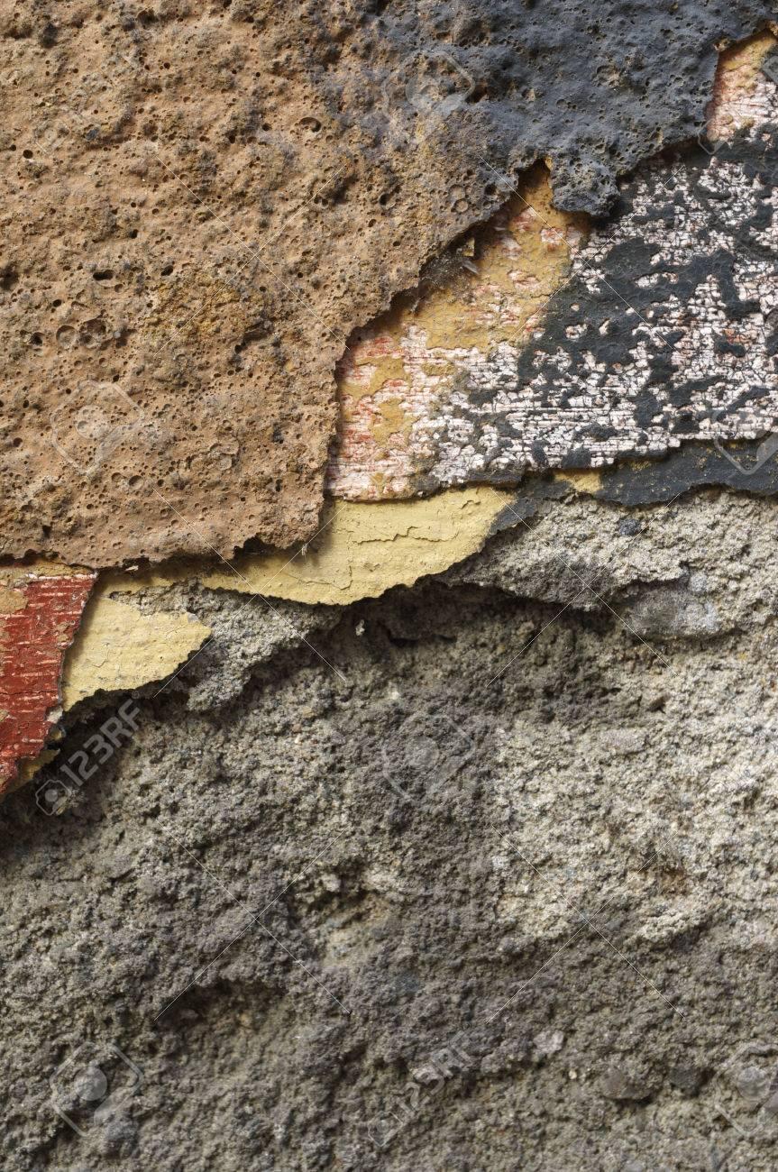 Gros Plan De Vieux Ruine Fissuré Grunge Mur Rouge Brique Avec