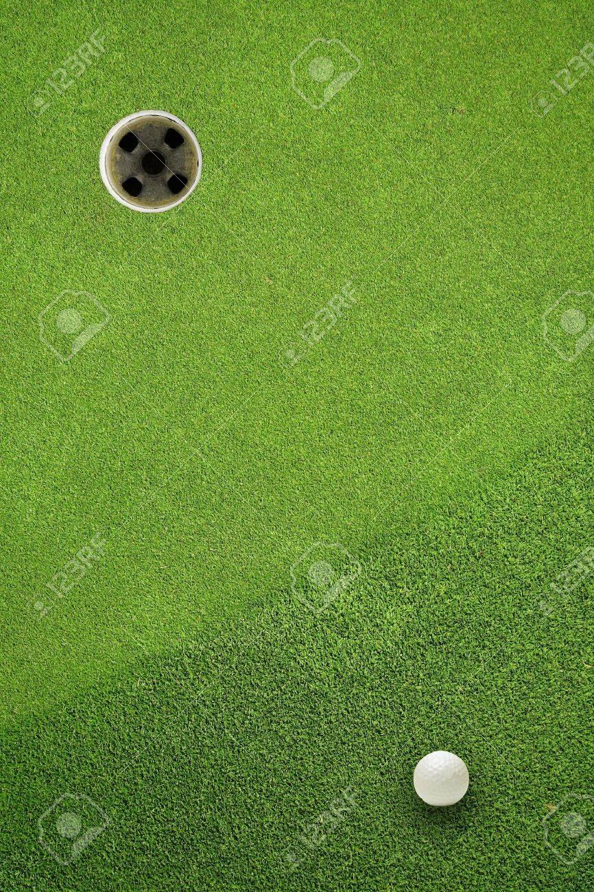 golf ball hole on a field - 11449447
