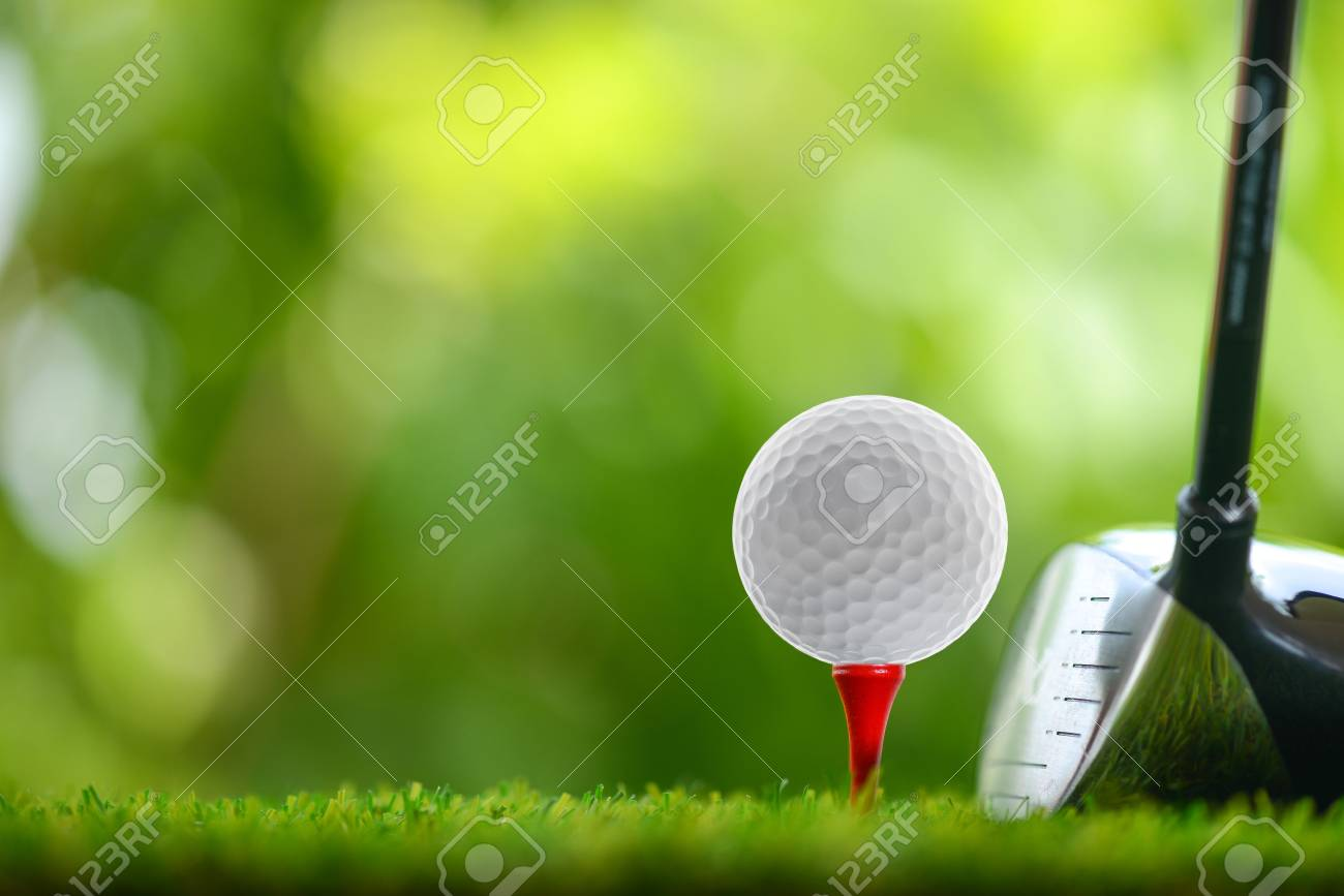 drive a golf ball on tee - 62298102