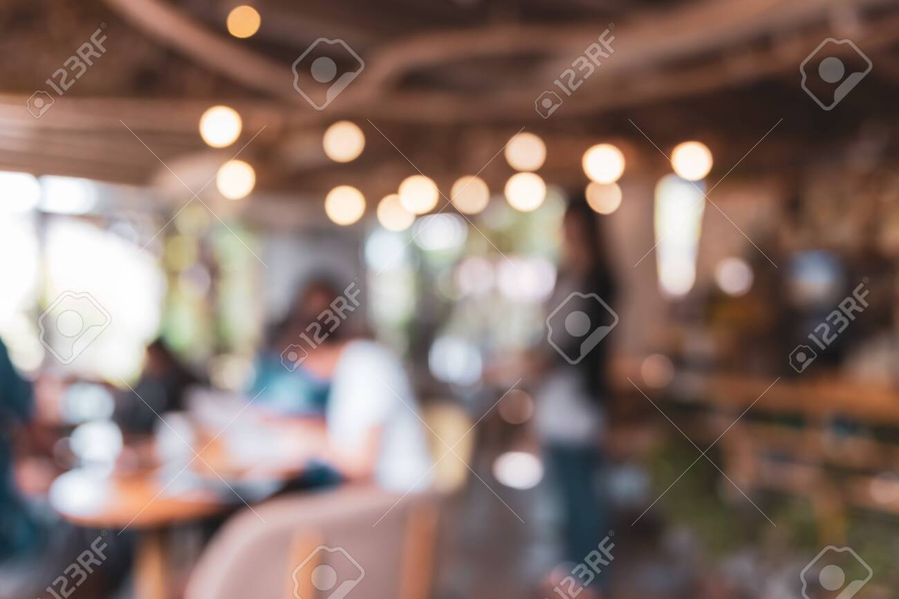 Blur coffee and restutant cafe with customers background vintage tone color style. - 152177544