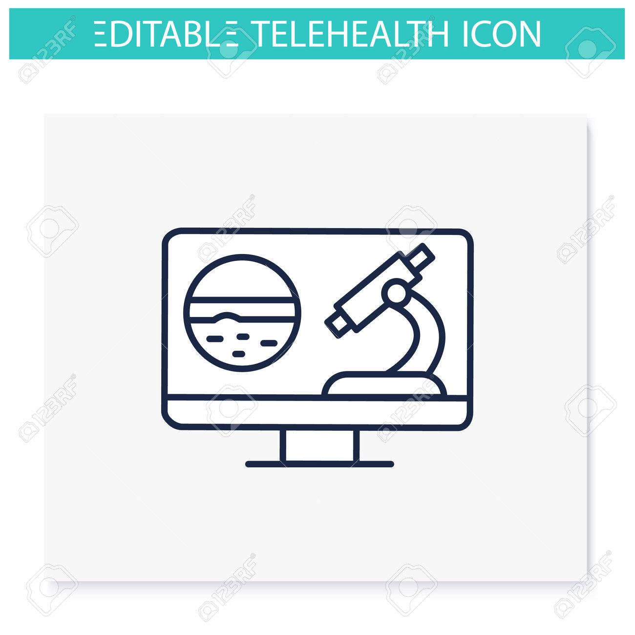 Teleoncology line icon - 162599315
