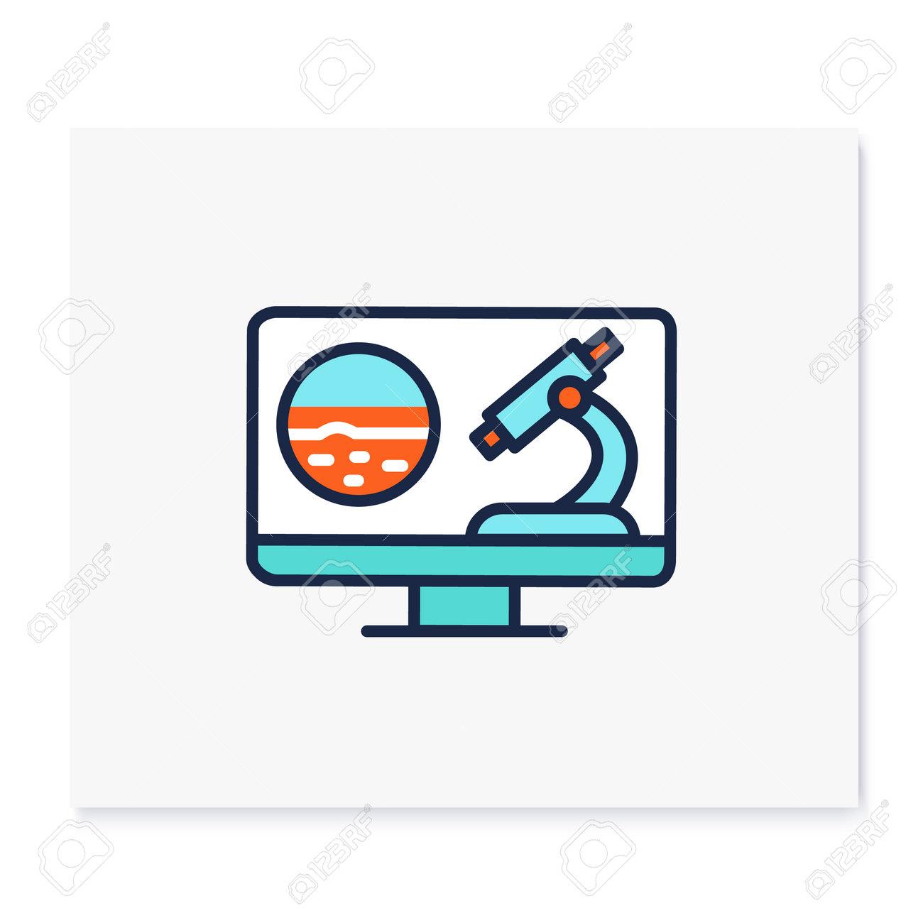 Teleoncology color icon - 162917258