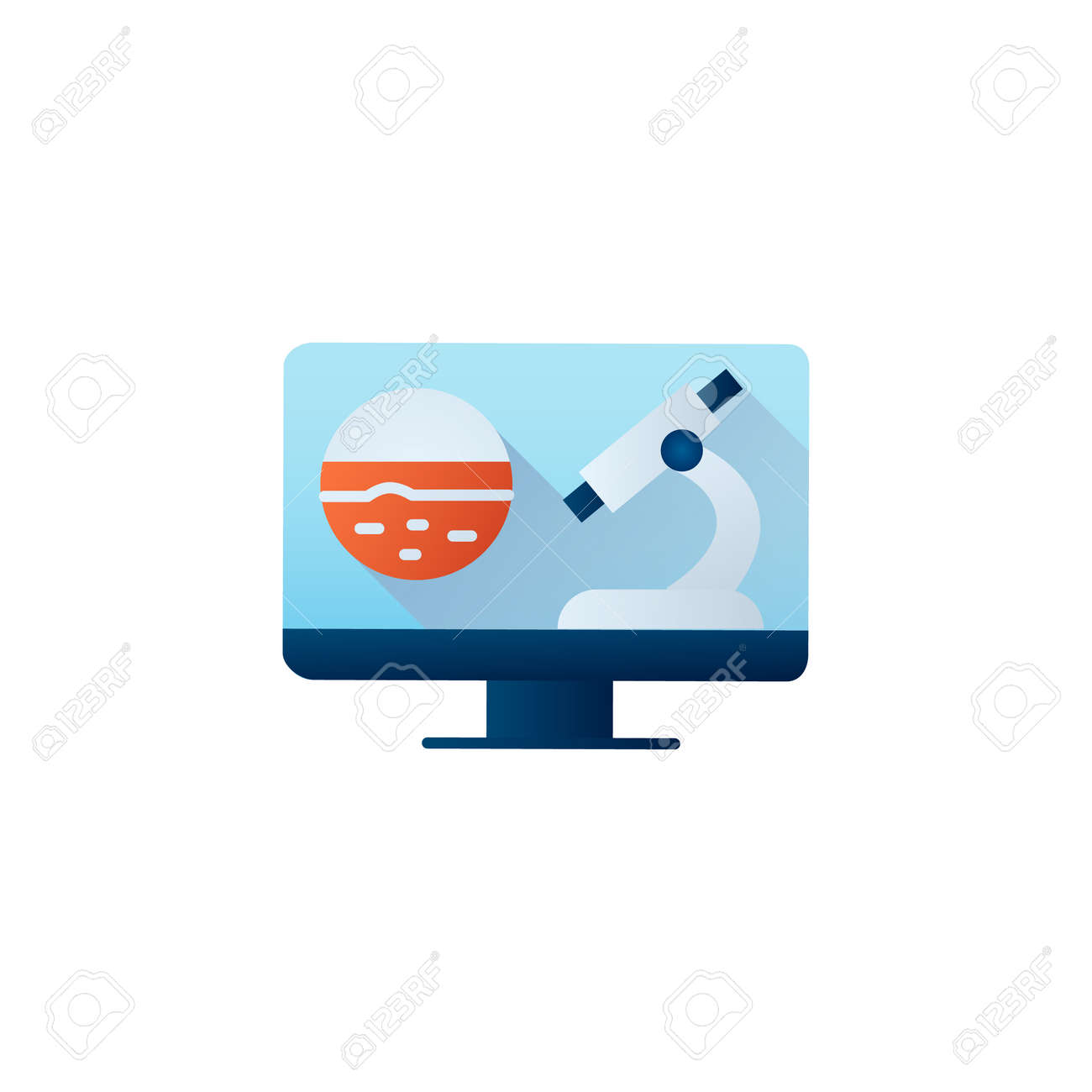 Online oncology flat icon - 163111968