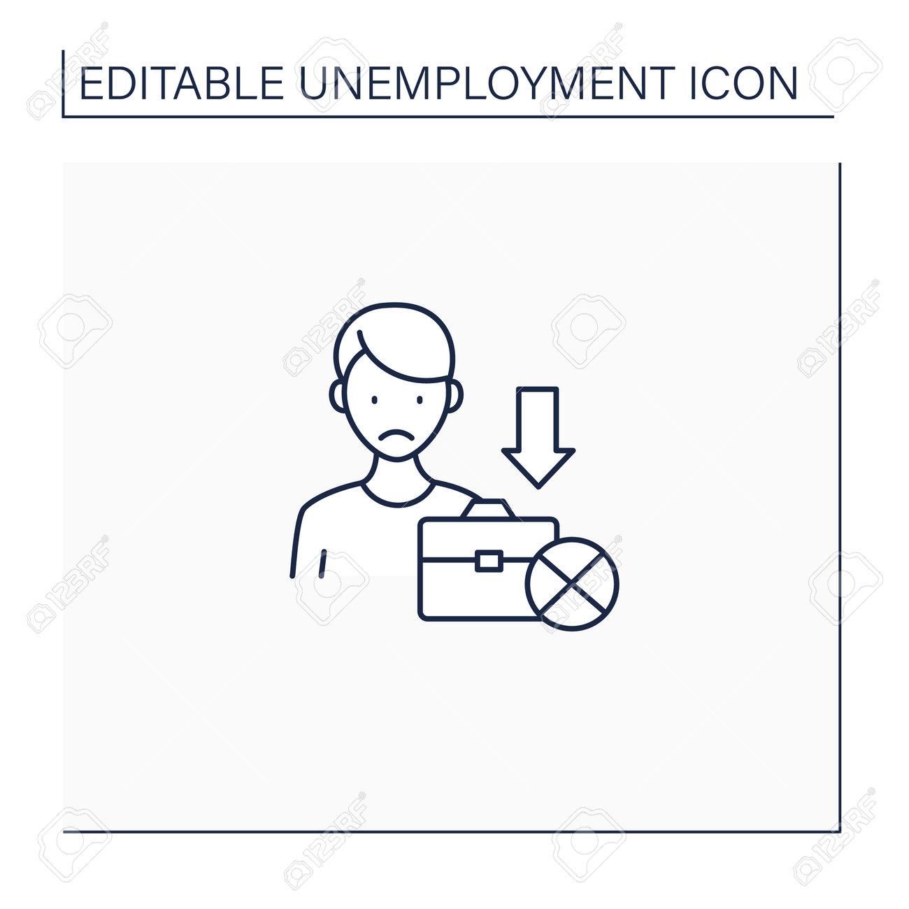 Jobless line icon - 172849694