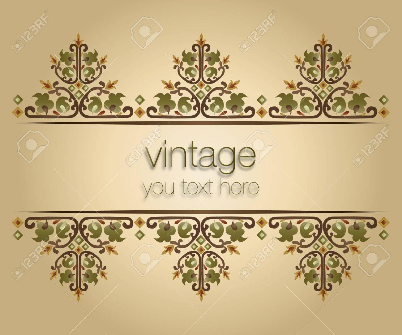 ornate vintage frames turkish design Stock Vector - 18020258