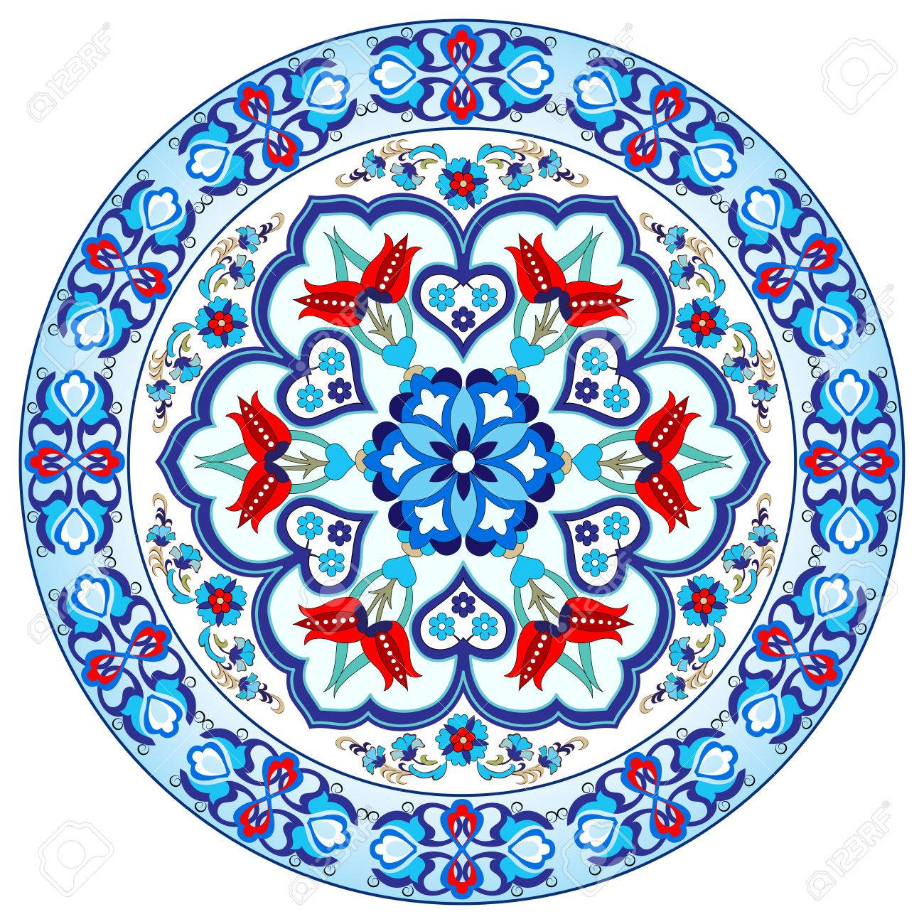 Colorful Antique Ottoman Turkish Design Pattern Vector Stock Vector    50010659