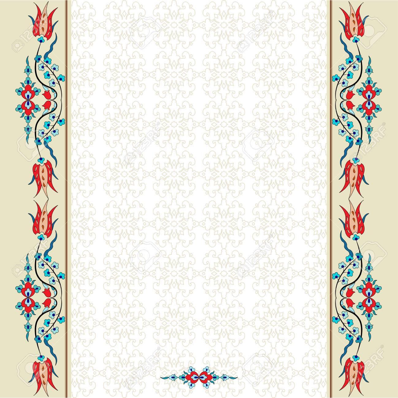 Turkish Design colorful antique ottoman turkish design pattern vector royalty