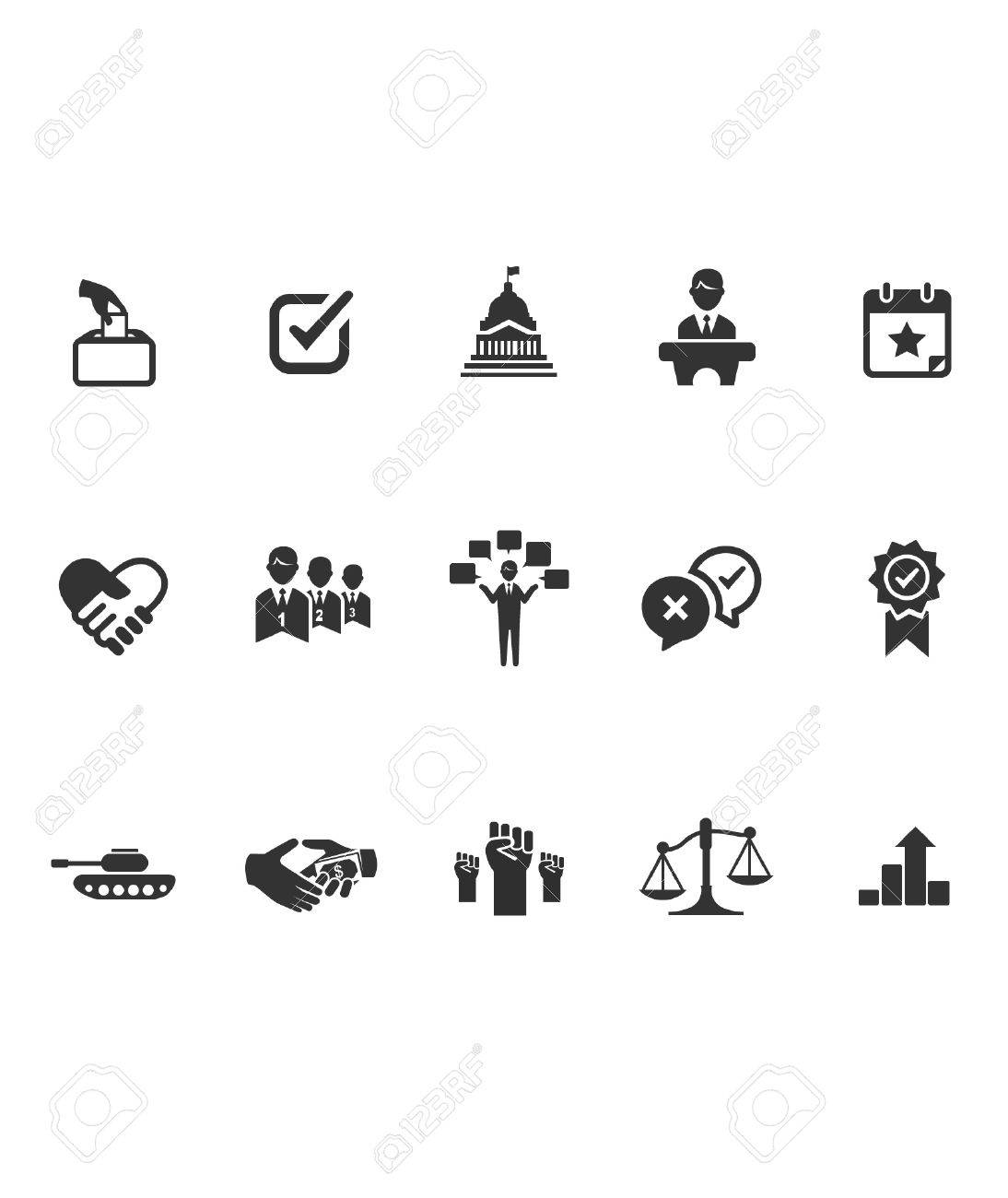 The Political icons Stock Vector - 27561478