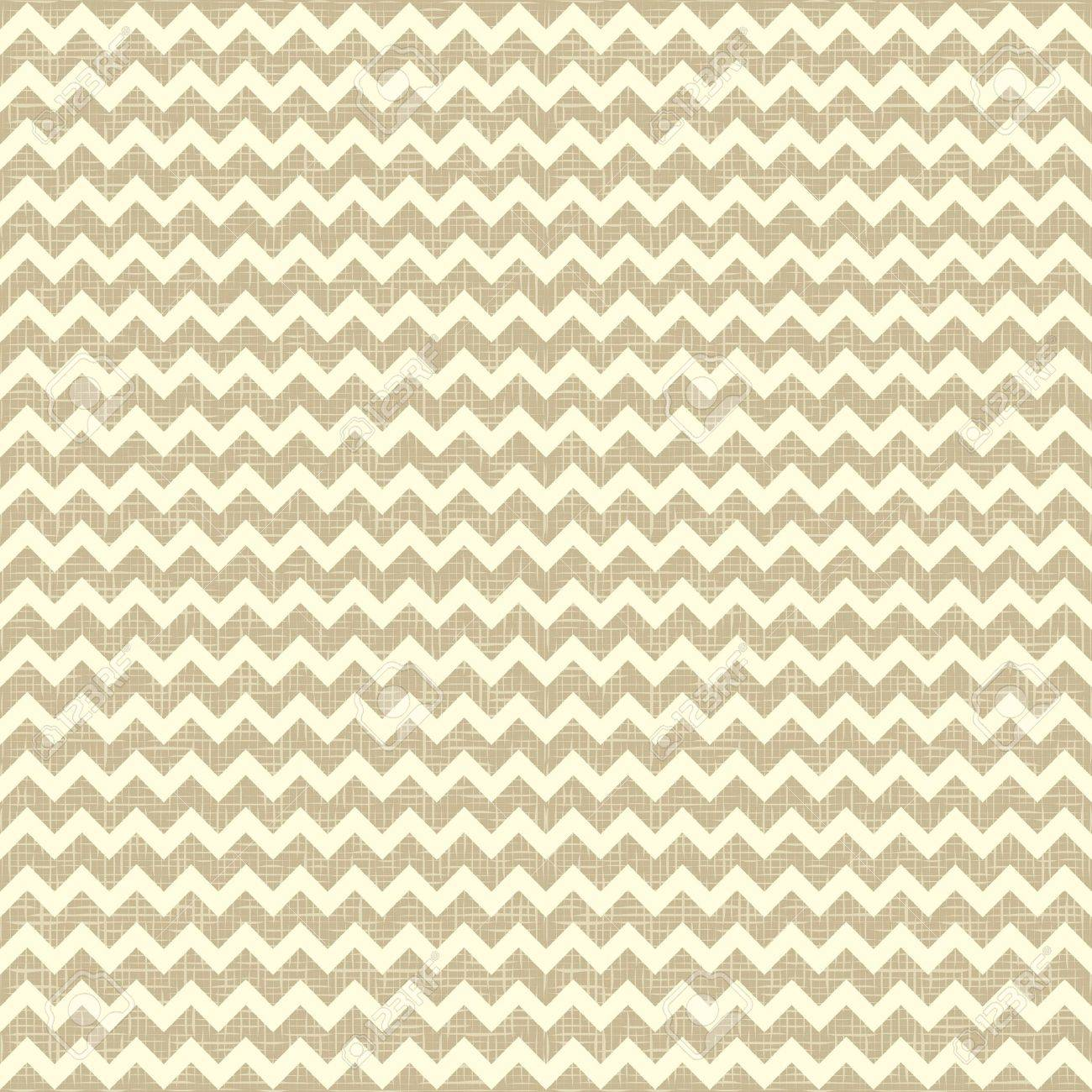 Seamless chevron pattern on linen canvas background  Vintage rustic burlap zigzag Stock Vector - 13271530