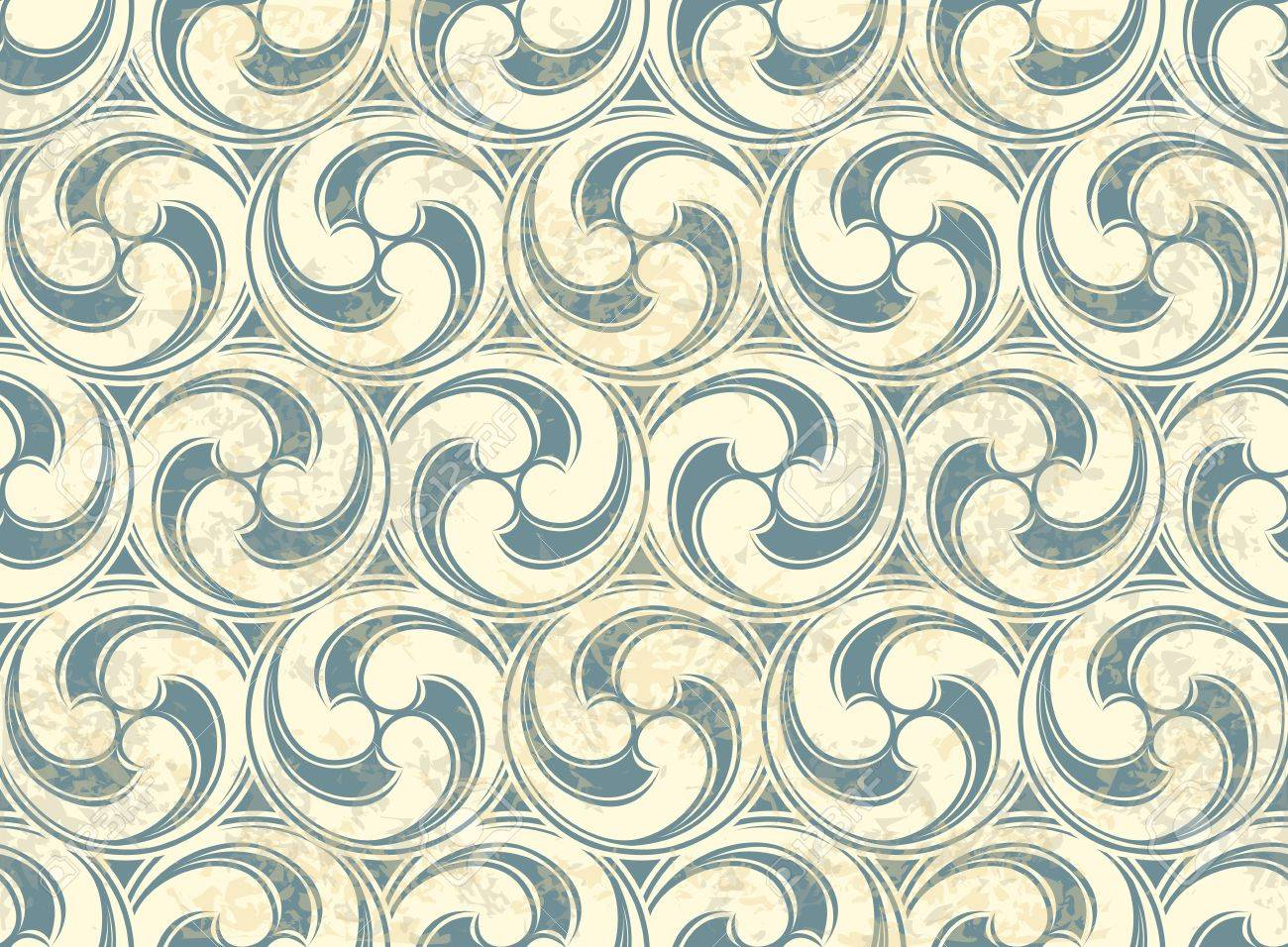 Vintage Seamless pattern with waves Stock Vector - 13452473