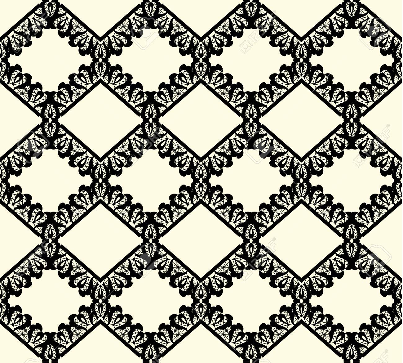 vector black lace seamless pattern on white background royalty free rh 123rf com