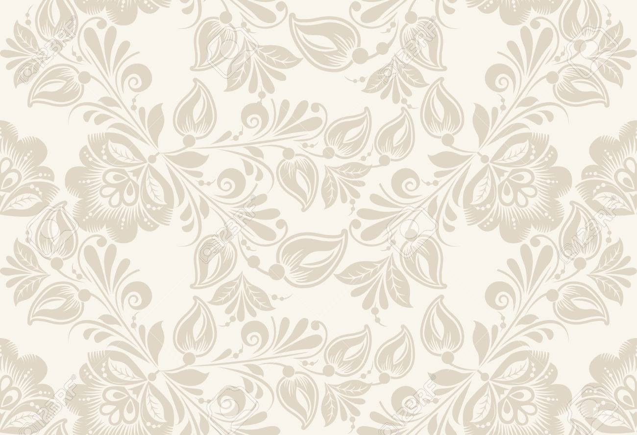 Vintage Floral Seamless Pattern Vector Seamless Texture With