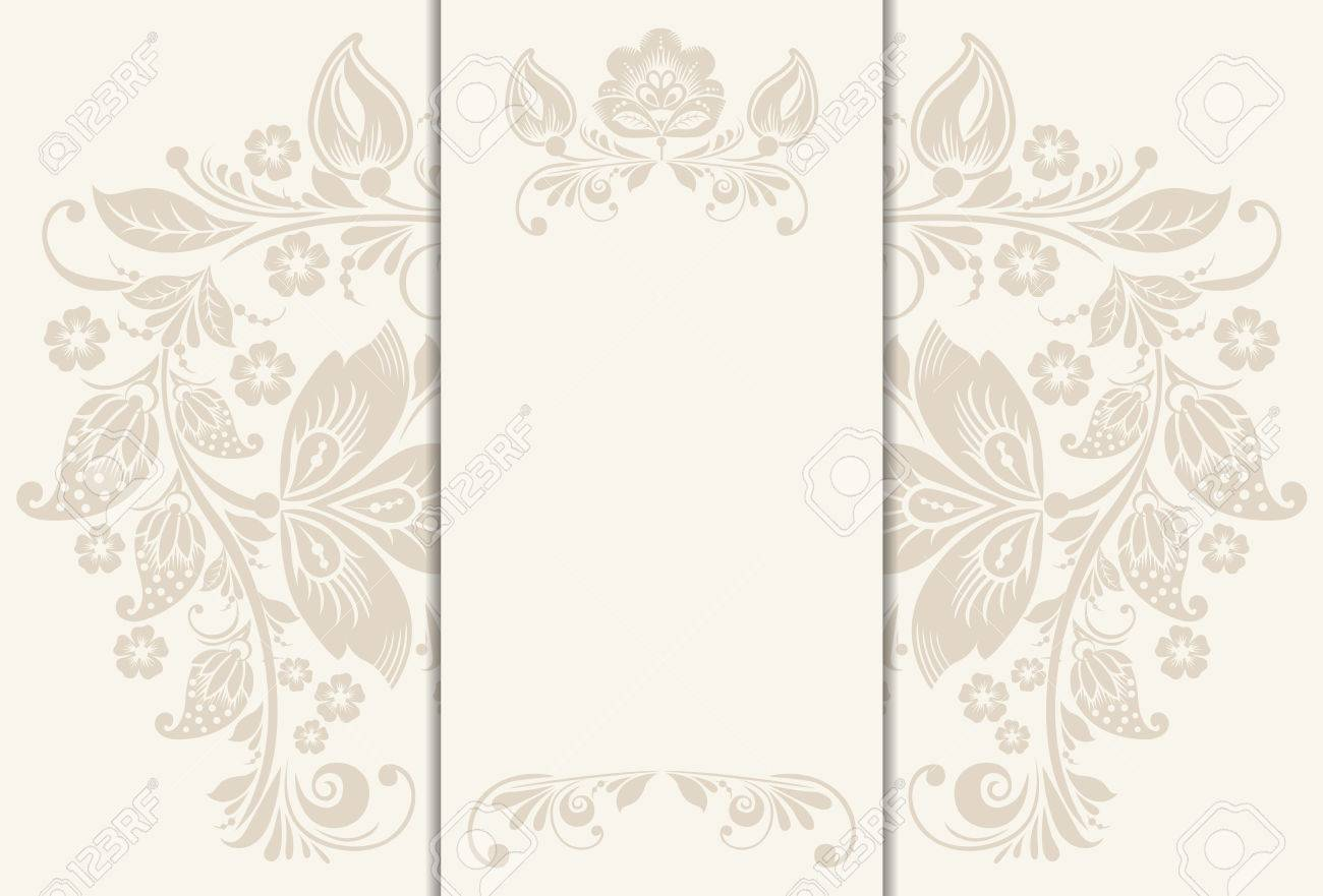 Floral Rustic Wedding Cards Beautiful Design Can Be Used As Banner For Of