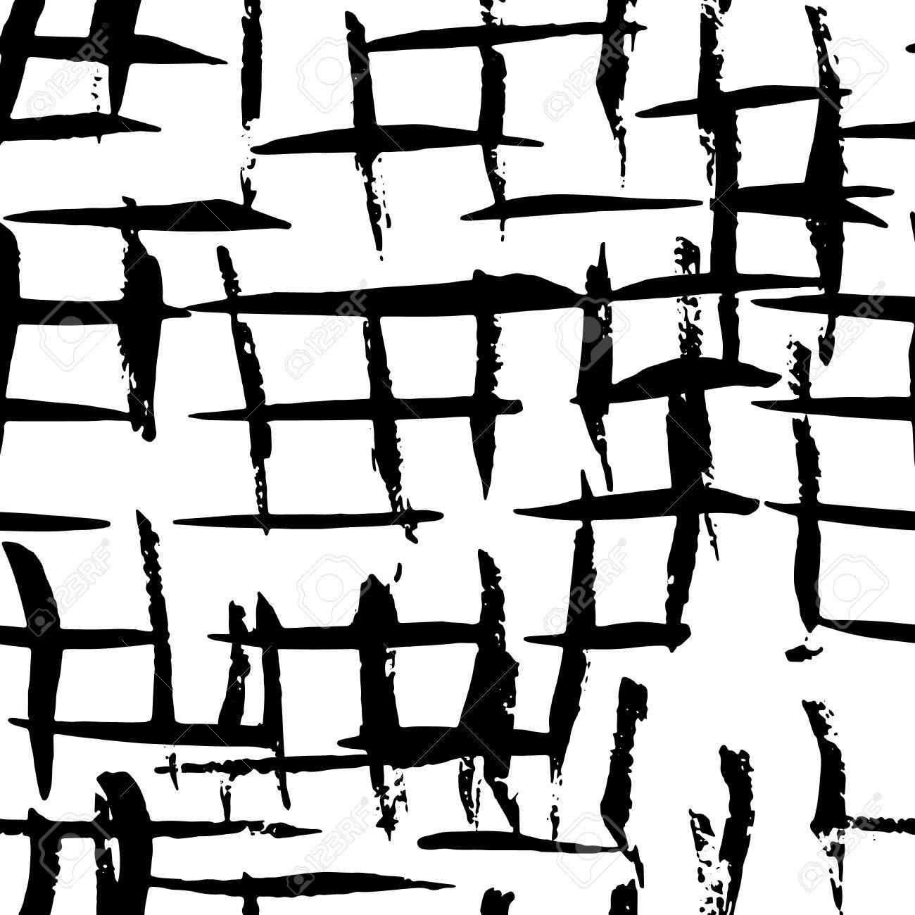 Resumen De Vectores De Patrón Gráfico Negro Blanco Sin Costuras ...