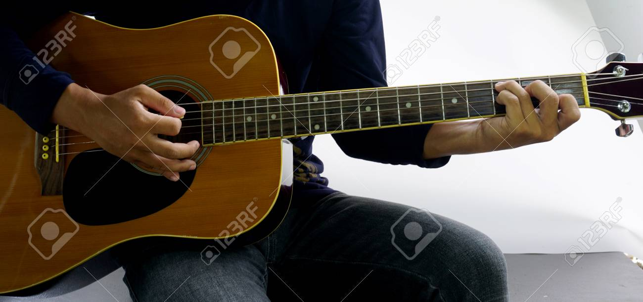 How To Play A Guitar Chord C7 Stock Photo Picture And Royalty Free