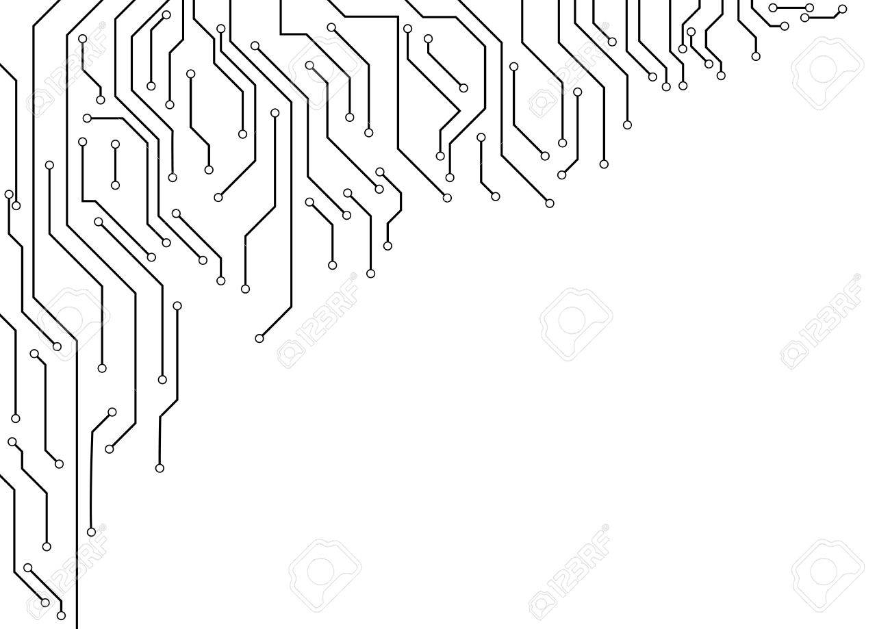 Vector : Electronic Circuit Border On White Background Royalty Free ...