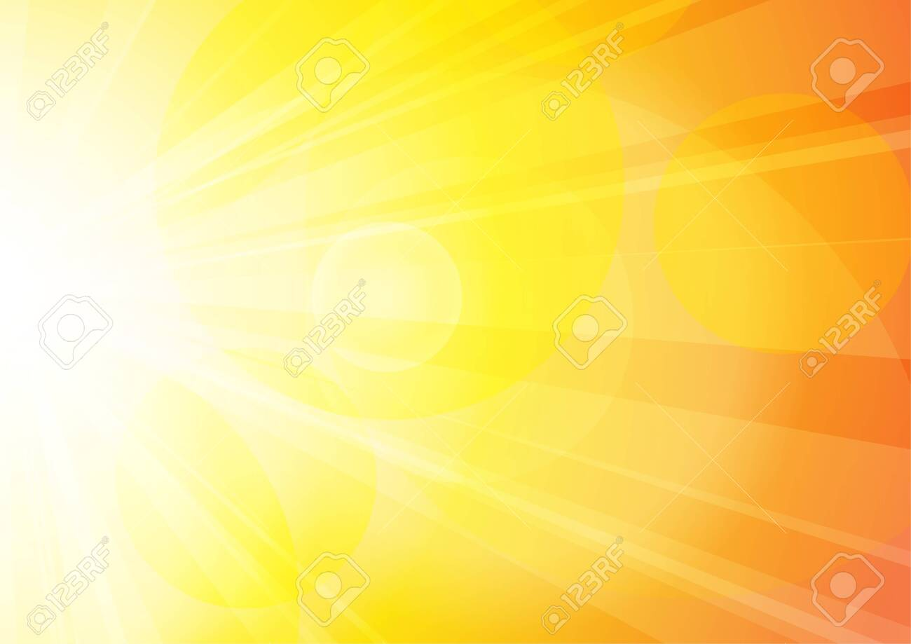 Vector : Abstract yellow and orange sun shine with bokeh - 146111707