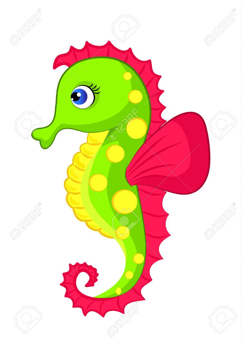 illustration of colorful seahorse royalty free cliparts vectors rh 123rf com seahorse clip art free seahorse clip art black and white