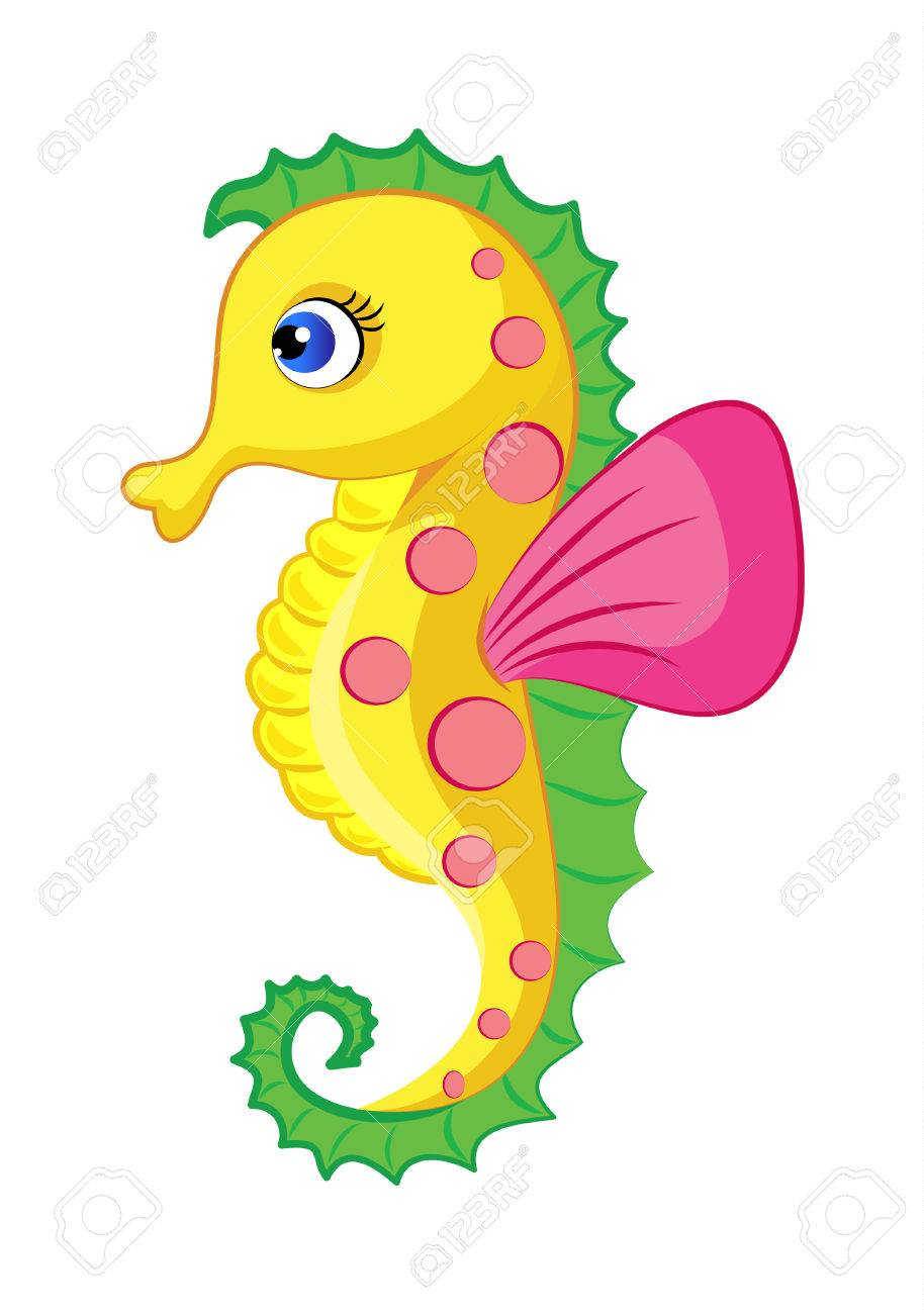 illustration of colorful seahorse royalty free cliparts vectors rh 123rf com