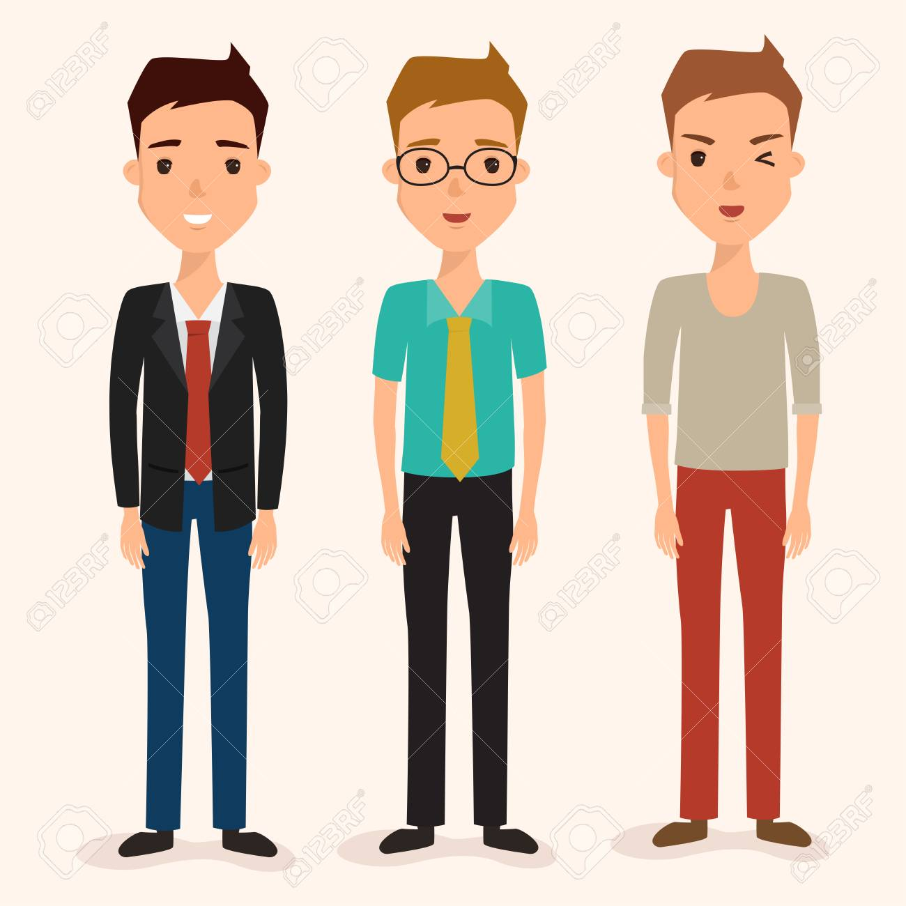 business man character in job  avatar of people vector flat design