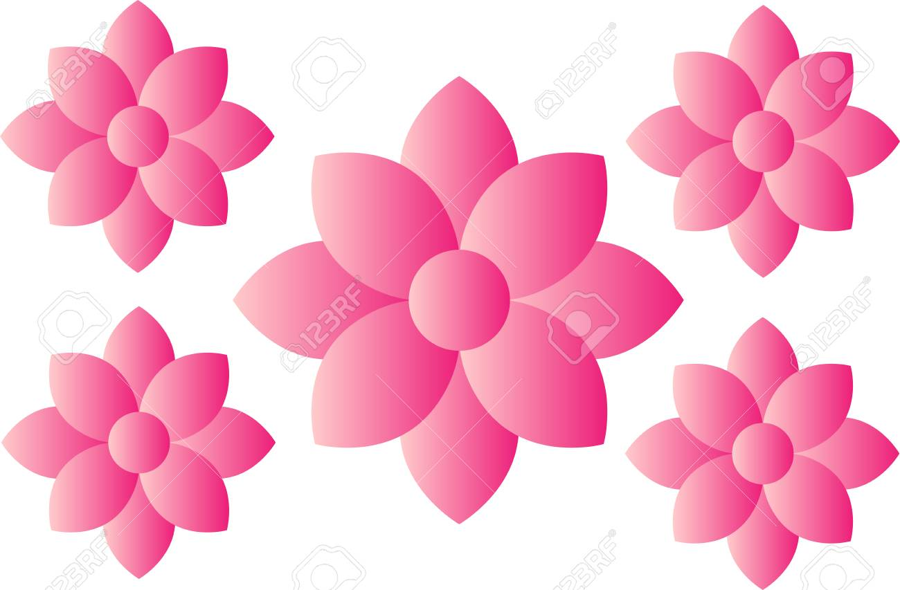 Pink flower icon concept royalty free cliparts vectors and stock pink flower icon concept stock vector 84960669 mightylinksfo Choice Image