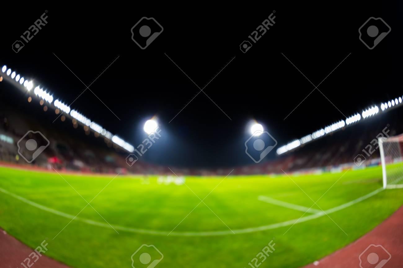 Verschwommene Stadion Fussball Nacht