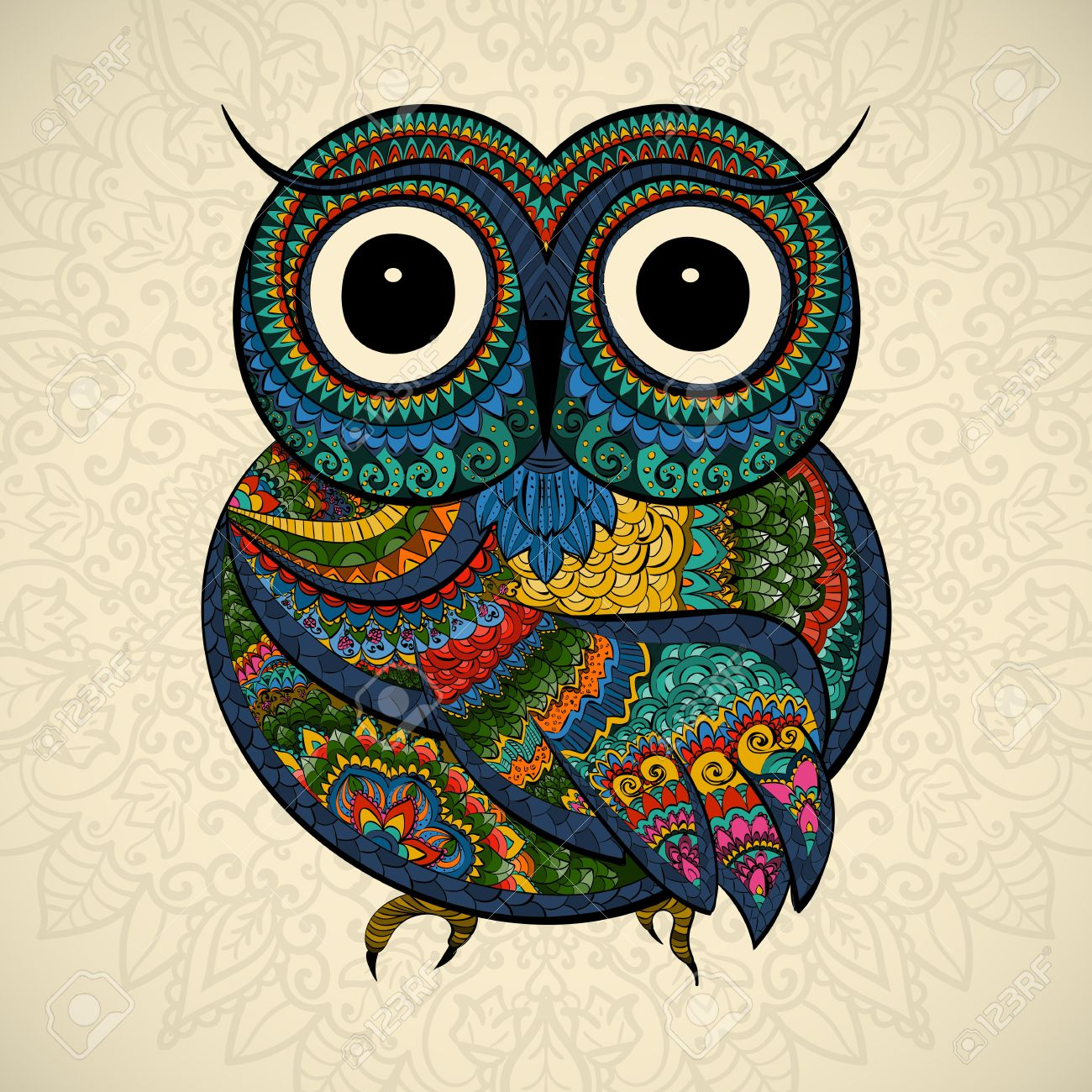 47401216-Vector-illustration-of-owl-Bird