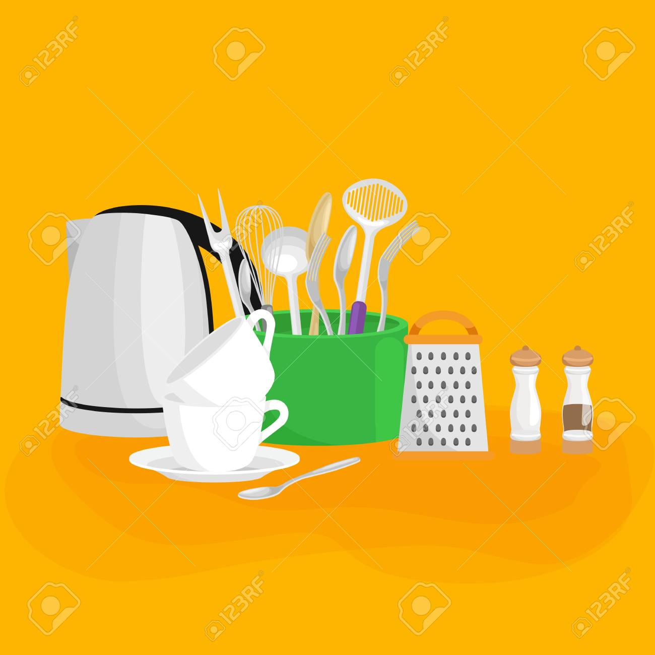 Food And Cooking Banner Set With Kitchenware Utensils Kitchen Royalty Free Cliparts Vectors And Stock Illustration Image 58994707