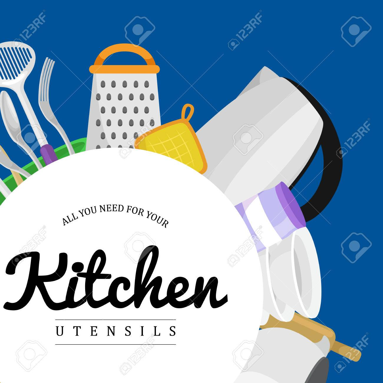 Food And Cooking Banner Set With Kitchenware Utensils Kitchen Royalty Free Cliparts Vectors And Stock Illustration Image 58994755