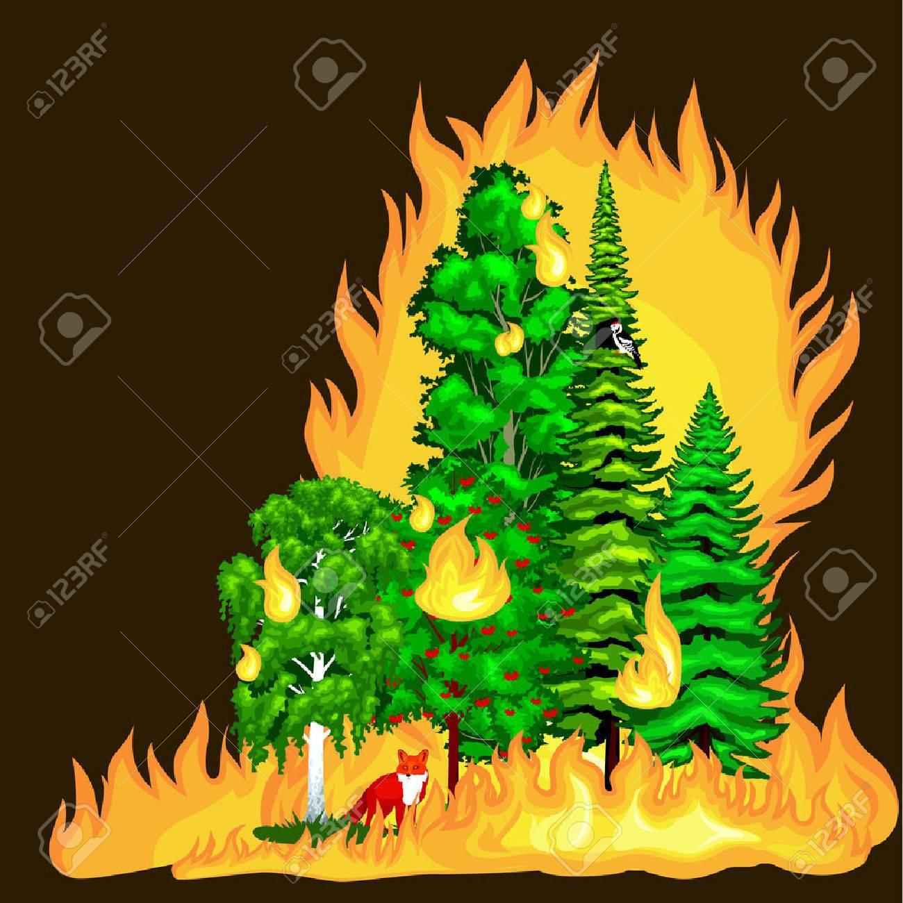 50 Burning Bush Cliparts, Stock Vector And Royalty Free Burning ...