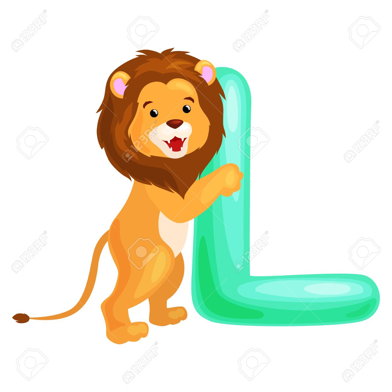 Lion Animal And Letter L For Kids Abc Education In PreschoolCute Animals Letters English