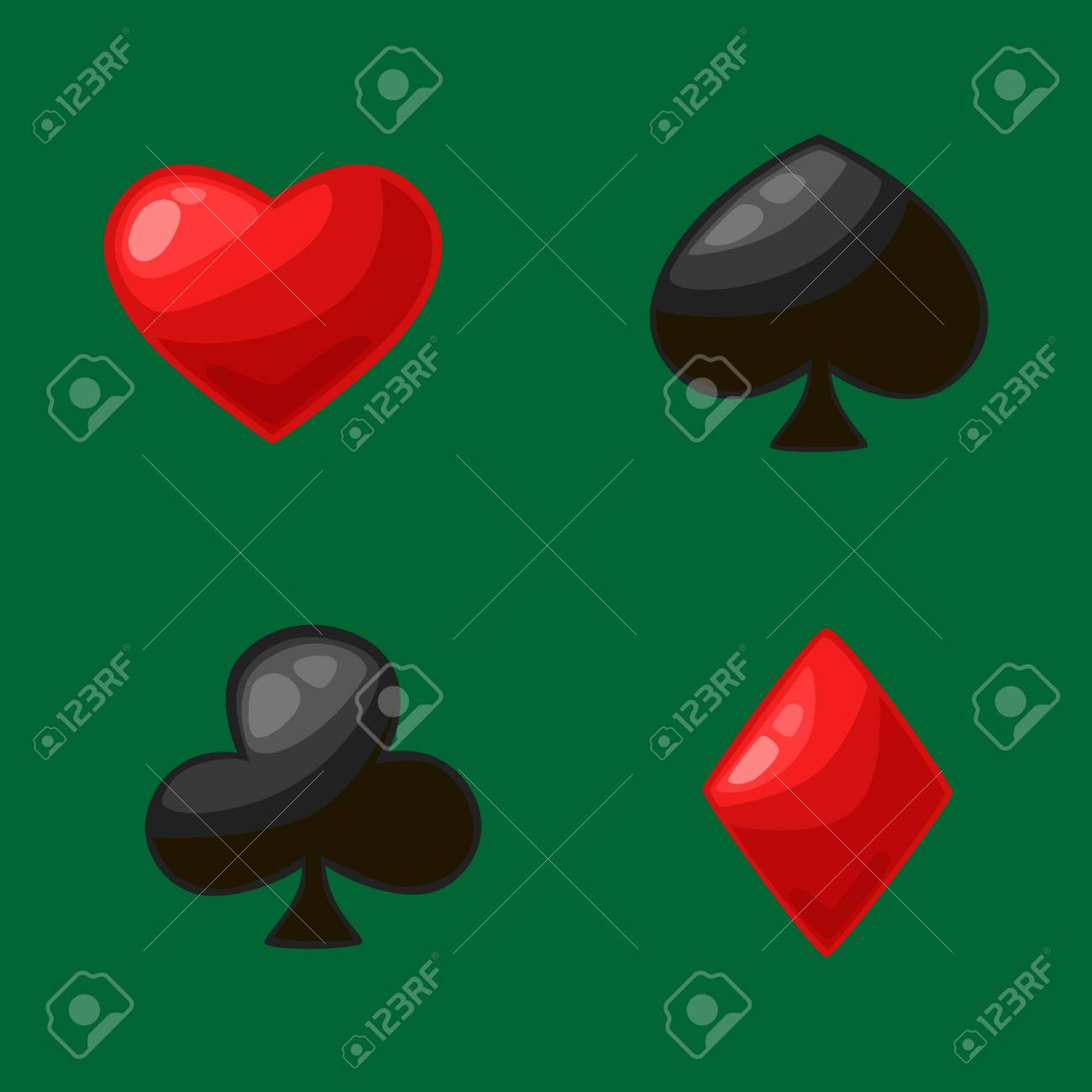 Isolated four card suits for poker game in casino symbol of isolated four card suits for poker game in casino symbol of red hearts diamonds buycottarizona