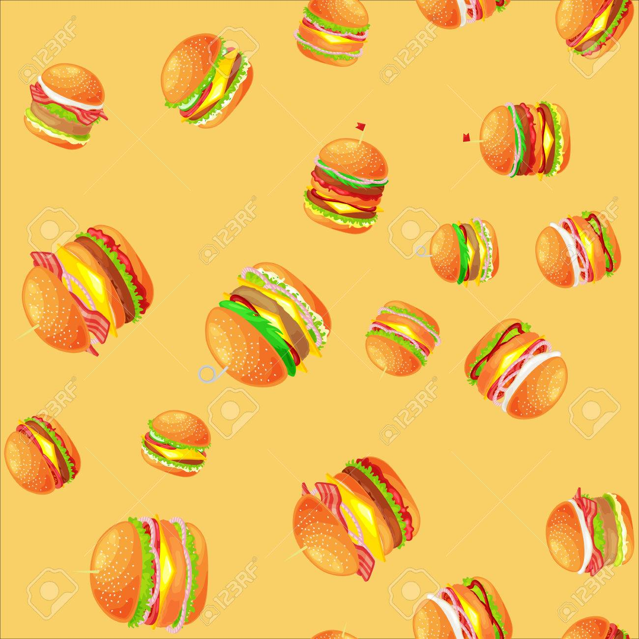american hamburger fast food meal menu vector illustration