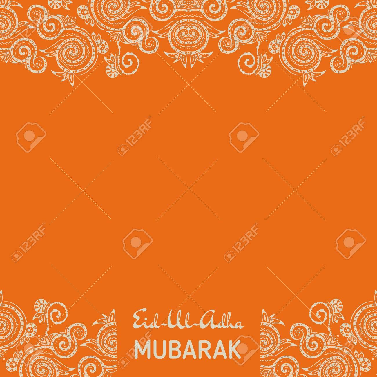 Amazing Hajj Eid Al-Fitr Decorations - 42088790-greeting-card-template-for-muslim-community-festival-eid-al-fitr-mubarak-with-zentangle-ornament-  Pic_96336 .jpg