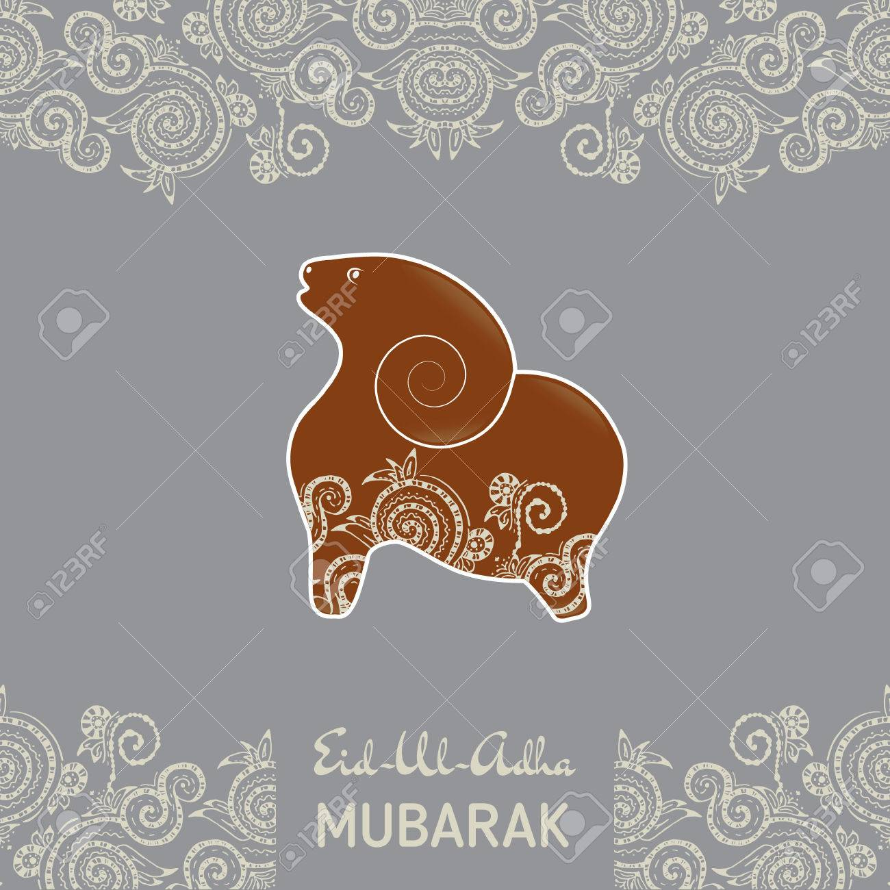 Greeting card template for muslim community festival eid al fitr greeting card template for muslim community festival eid al fitr mubarak with flat kristyandbryce Images