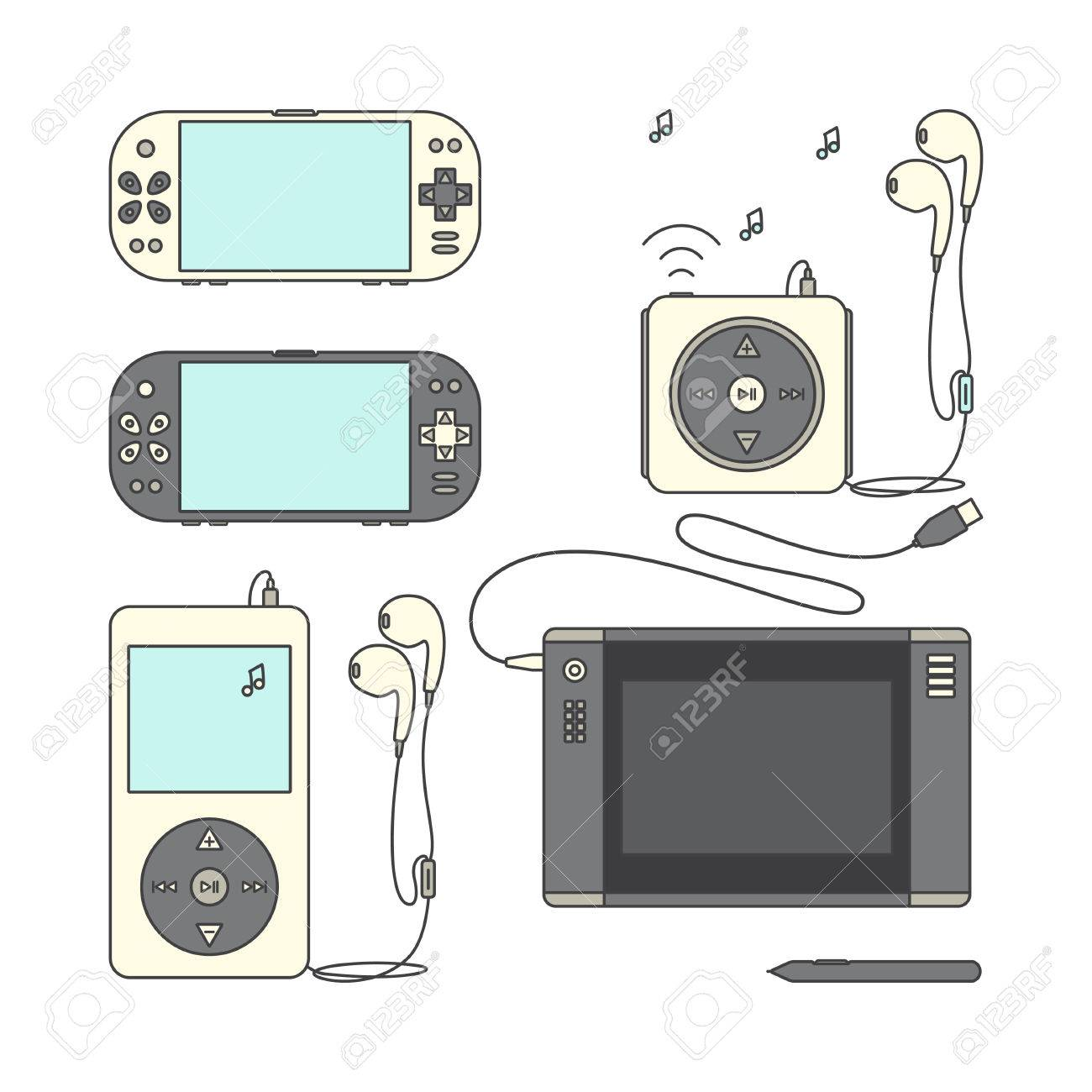 Game gadget Icons  Handheld game console Icons  Music players