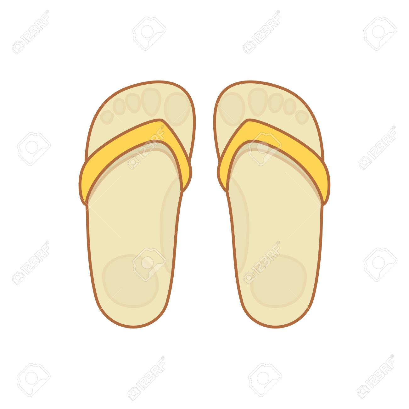 9c0b1569dce30 Flip-flops Isolated On A White Background. Royalty Free Cliparts ...