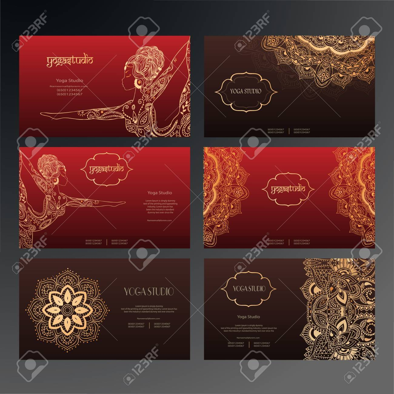 Set Of Business Card And Invitation Card Templates With Lace – Business Card Invitations