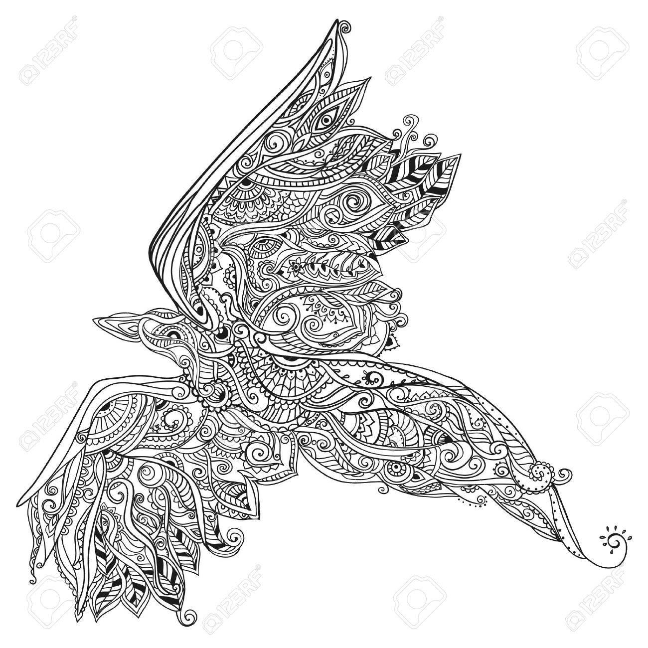 美しい鳥のカードベクターでの塗り絵完璧なカードまたは設計誕生