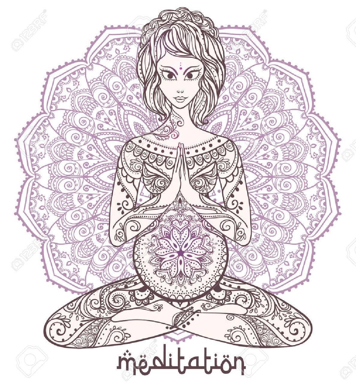 Vector Yoga Karte Für Schwangere Frauen. Gesundes Leben, Element ...