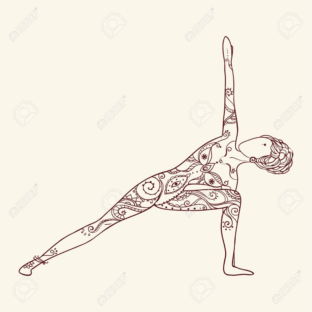 Ornament Beautiful Card With Vector Yoga Geometric Element Hand Drawn Perfect Cards For Any