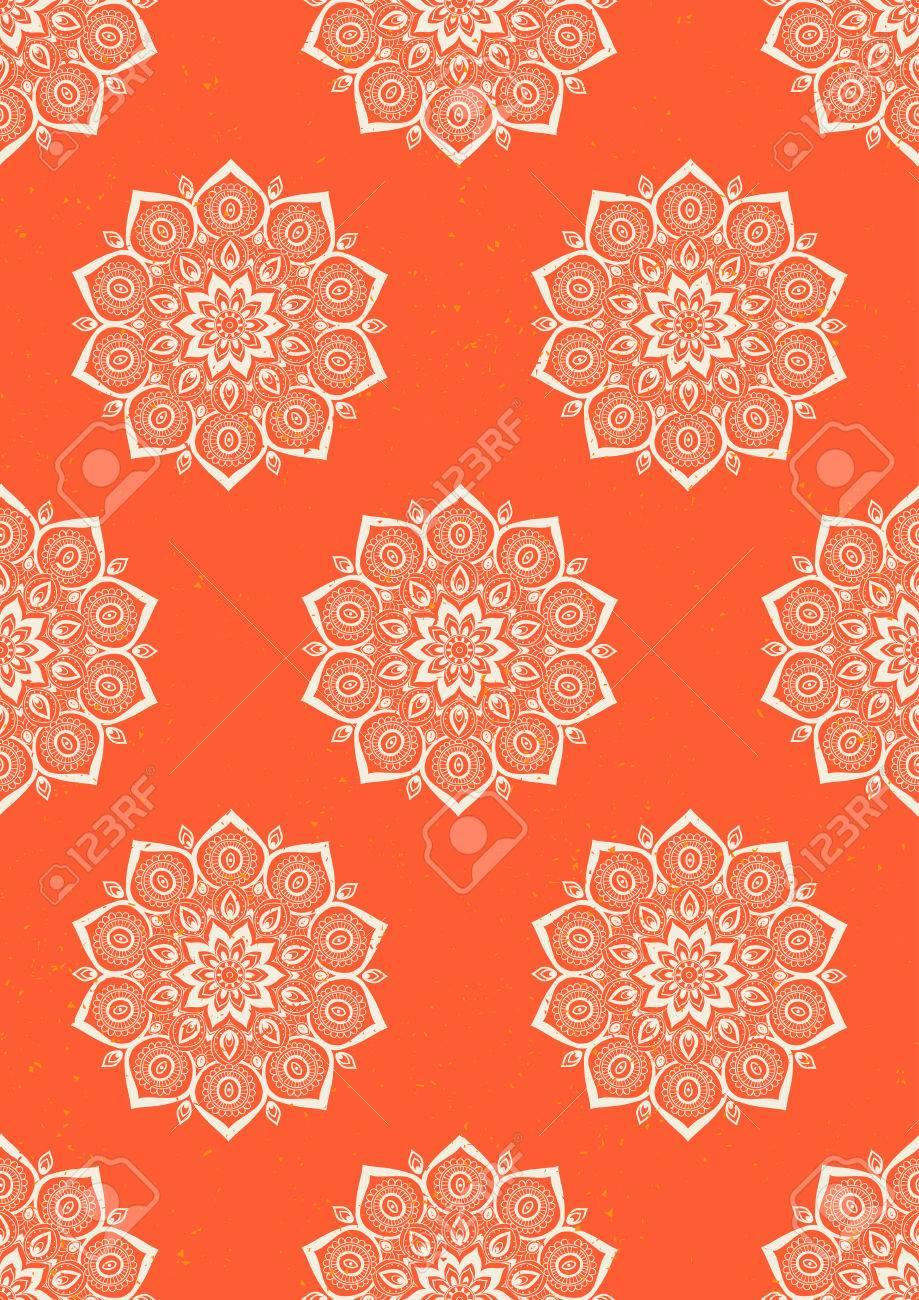 Coloriage Mandala Couleur.Carte De Couleur Ornement Avec Mandala Geometrique Vecteur Element